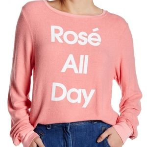 NWOT Wildfox rose' all day peach long slee…